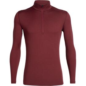 Icebreaker 200 Oasis T-shirt manches longues avec demi-zip Homme, cabernet